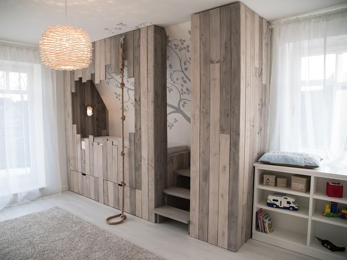 Kinderzimmer mit Hochbett-Baumhaus | Holzmanufaktur